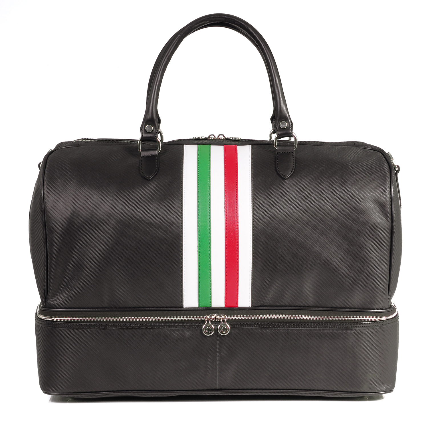 carbon leather monza holdall